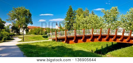 Town of Jastrebarsko park view northern Croatia