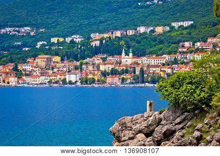Coastal town of Volosko in Kvarner bay Croatia