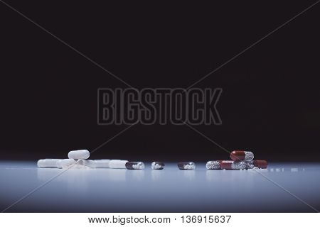 Colorful Capsules And Pills