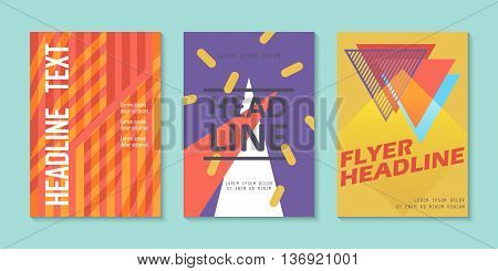 Choice of three brochures fliers layout template design