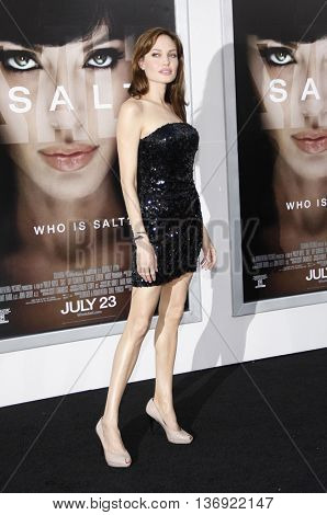 Angelina Jolie at the Los Angeles premiere of 'Salt' held at the Grauman's Chinese Theater in Los Angeles, USA on July 19, 2010.