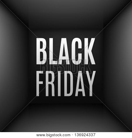 Black simple room interior with Black Friday discounts
