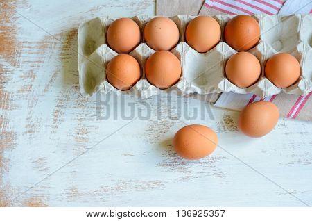 Eggs In A Cardboard Tray