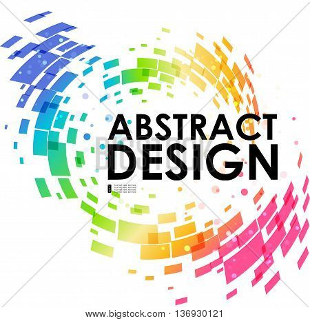 Abstract geometric colorful circular background design element frame background