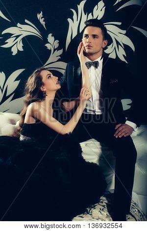 Handsome Man And Elegant Women