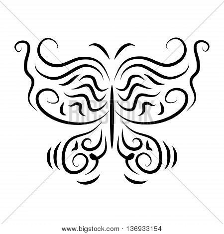 The stylized stylish decorative a butterflies isolate