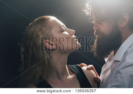 Young Sexy Couple With Wet Hair