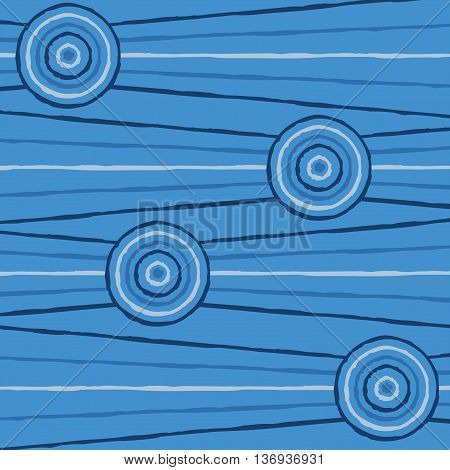 Abstract Aboriginal Line Painting In Vector Format.
