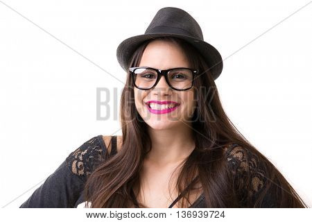 Portrait of a latina hipster