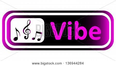 Long icon with a violet gradient and the inscription vibe