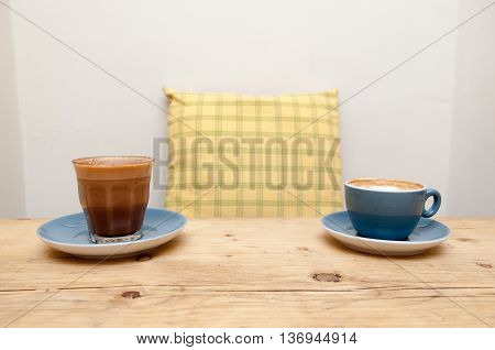 Fresh Coffee In A Cafe Interior
