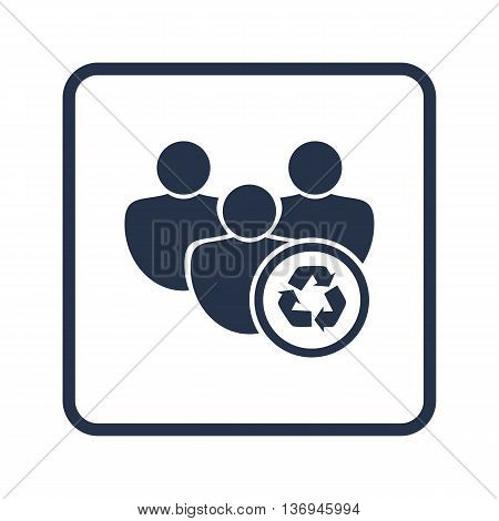 User Recycle Icon In Vector Format. Premium Quality User Recycle Symbol. Web Graphic User Recycle Si