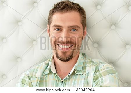 portrait of  man in a casual style posing