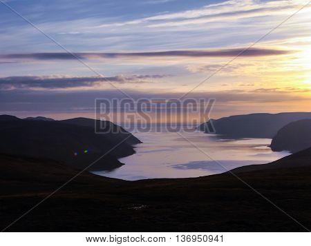 Norway landscape fjord at Nordkapp North Cape
