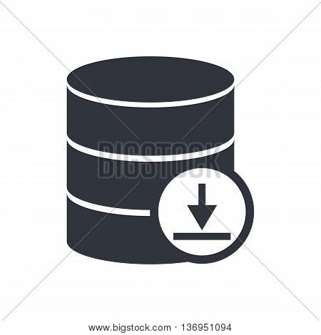 Database Download Icon In Vector Format. Premium Quality Database Download Symbol. Web Graphic Datab