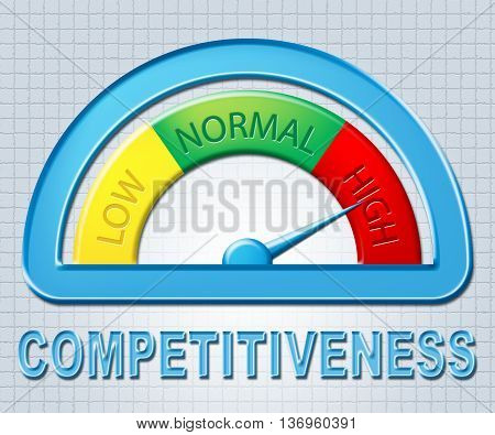 High Competitiveness Indicates Measure Rival And Challenger