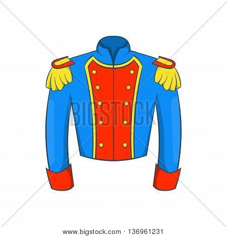 French historical uniform of soldier icon in cartoon style on a white background