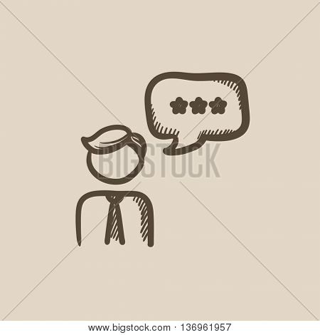 Customer service vector sketch icon isolated on background. Hand drawn Customer service icon. Customer service sketch icon for infographic, website or app.
