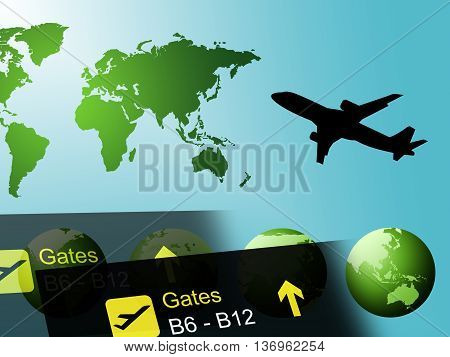 World Travel Represents Globalization And Touring Countries