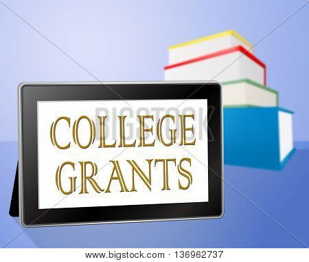 College Grants Means Education Book And Study