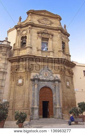 Addolorata church facade in Marsala, Sicily