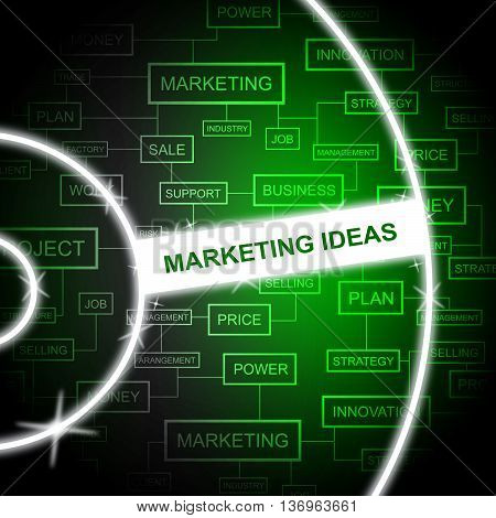 Marketing Ideas Shows Email Lists And Advertising
