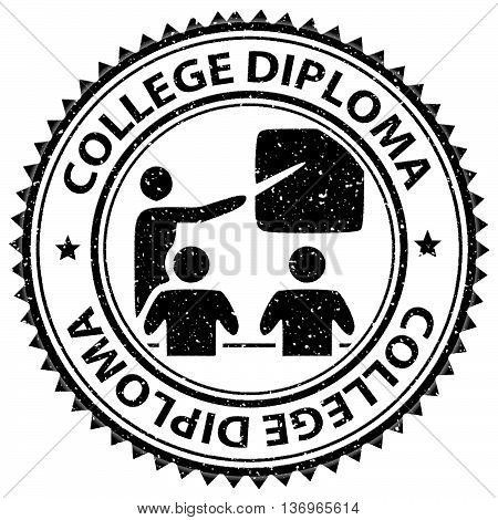 College Diploma Represents Stamp Certificates And Educate