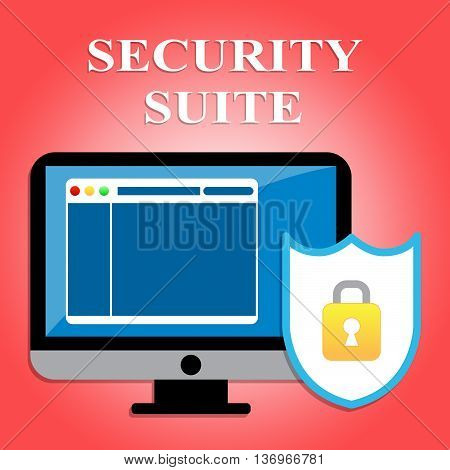Security Suite Shows Web Site And Computer