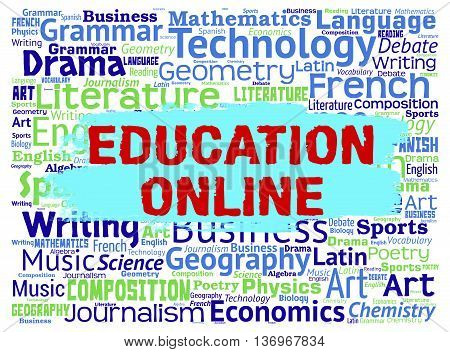 Education Online Represents Web Site And Learning