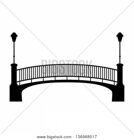 Park bridge with two lanterns ( shade picture )