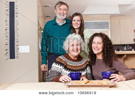 Grandparents, Daughter And Granddaughter
