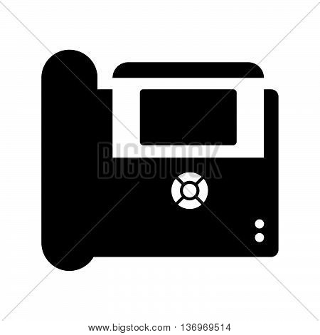 IP phone ( shade picture ) on white background