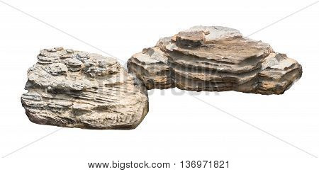 Big rock stone Isolated on white background