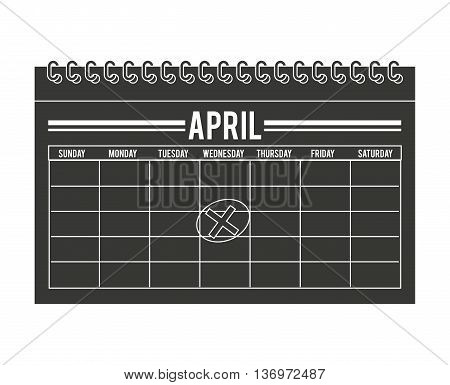 calendar timestamped tax isolated icon design, vector illustration  graphic