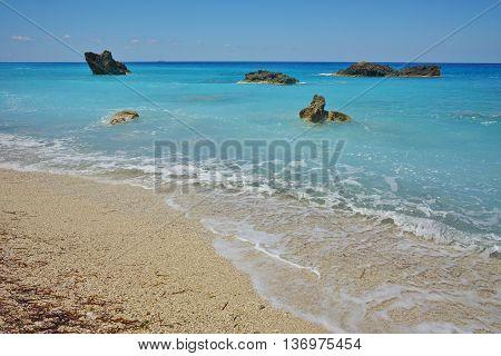Amazing landscape of Katisma Beach, Lefkada, Ionian Islands, Greece