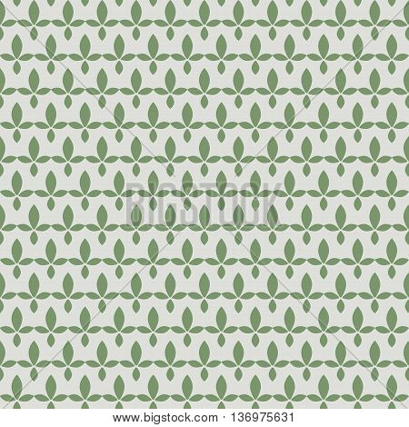 seamless pattern with green tea, green leaves stylized, repeating pattern