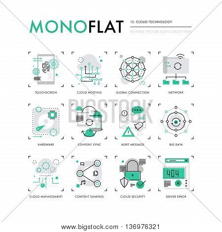 Cloud Technology Monoflat Icons