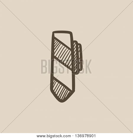 Tie sketch icon for web, mobile and infographics. Hand drawn Tie icon. Tie vector icon. Tie icon isolated on white background.