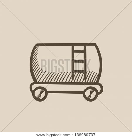 Railway cistern  vector sketch icon isolated on background. Hand drawn Railway cistern  icon. Railway cistern  sketch icon for infographic, website or app.