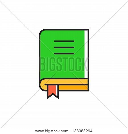 Book with bookmark. Reading, knowledge, literature. School concept. Can be used for topics like education, school, knowledge