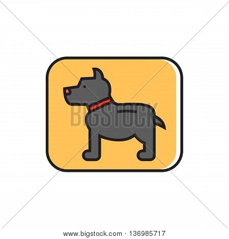 Dog sign. Pet, animal, dog, park zone. Pet concept. Can be used for topics like pet, friend, animal