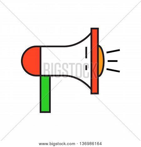 Megaphone illustration. Loudspeaker, communication, annoucement. Communication concept. Can be used for topics like communication, politics, leadership