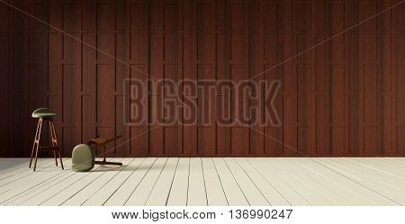 3d rendering thai style partition wall and flooing