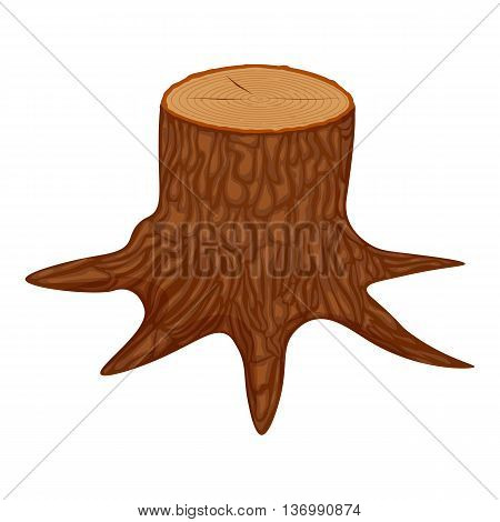 tree stump vector illustration isolated on a white background