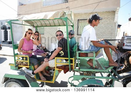 Carriage With Tourists In Tunisia