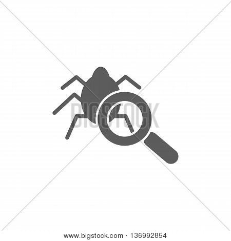 Virus scan icon on the white background. Vector illustration