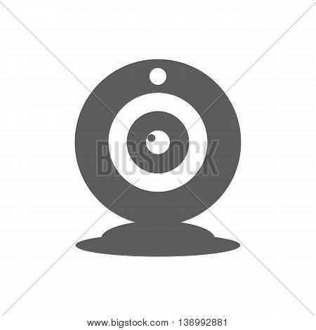 Webcam icon vector on the white background. Vector illustration
