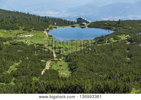 Panoramic view around Bezbog lake, Pirin Mountain, Bulgaria