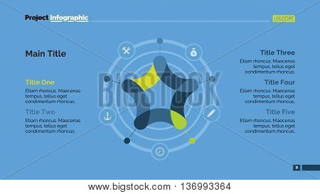Star in circle diagram. Element of presentation, cycle diagram, layout. Concept for infographics, templates, reports. Can be used for topics like marketing analysis, business strategy, workflow