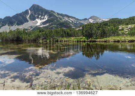 Panoramic view of Orlovets peak and Banski lakes, Pirin Mountain, Bulgaria